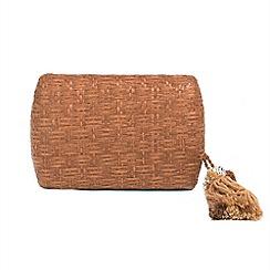 Parfois - Bronze Ochre clutch bag