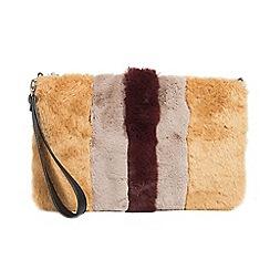 Parfois - Mustard teddy handbag