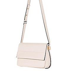 Parfois - Light cream glam flower cross bag