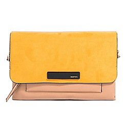 Parfois - Mustard gorden envelope clutch bag
