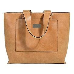 Parfois - Camel stripy shopper bag