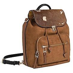 Parfois - Camel English heritage backpack bag
