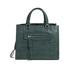 Parfois - Green franky country shopper bag
