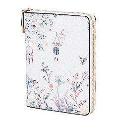 Parfois - Printed blue jeans wallet notebook