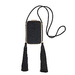 Parfois - Black whitney party clutch