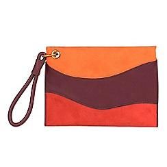 Parfois - Orange night patchwork handbag