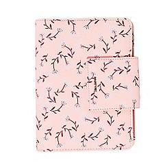 Parfois - Printed light pink wallet notebook