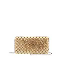 Parfois - Gold 'Party' clutch