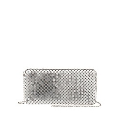 Parfois - Silver 'Party' clutch
