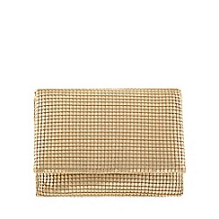 Parfois - Gold 'teen' mesh cross bag