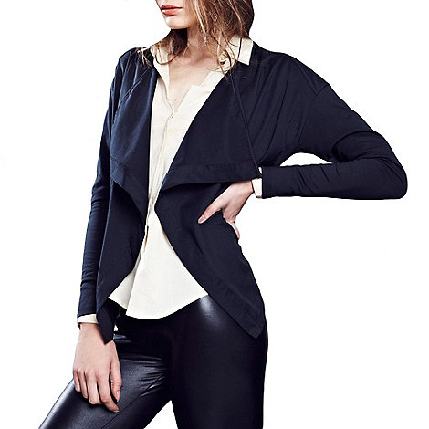 HotSquash - Black thermal jersey cardigan