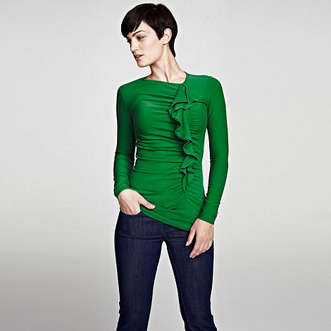 HotSquash - Lawn ThinHeat thermal top with frill detail