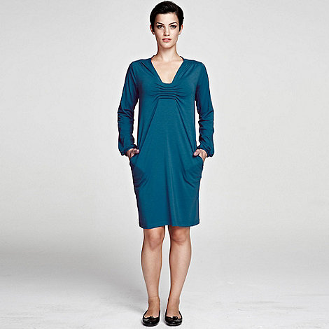 HotSquash - Teal knee length dress thermal with clever fabric