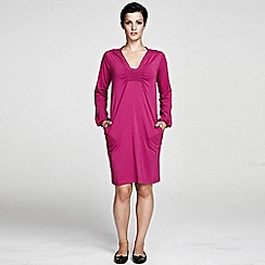 HotSquash - Purple knee length thermal dress with Clever Fabric