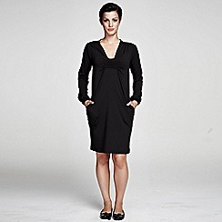 HotSquash - Black knee length dress with thermal Clever Tech