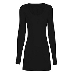 HotSquash - Black thermal scoop top with ThinHeat