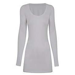 HotSquash - White thermal scoop top with ThinHeat