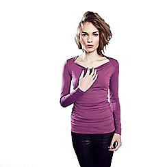 HotSquash - Pink ThinHeat close fitting cowl neck top