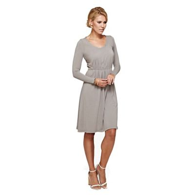 HotSquash Grey round necked knee length dress in clever