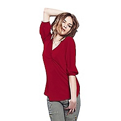 HotSquash - Red V Neck Tunic With Thin Heat