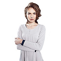 HotSquash - Grey Thermal Bib Front Top With Button Detail