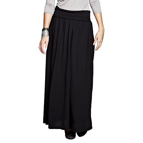 HotSquash - Black maxi skirt with CoolFresh