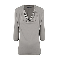 HotSquash - Grey Nehru Collar Detail Top With CoolFresh
