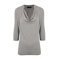 HotSquash - Grey Nehru Collar Detail Top With CoolFresh