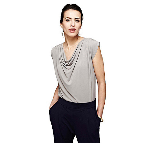 HotSquash - Grey Gathered Top With CoolFresh