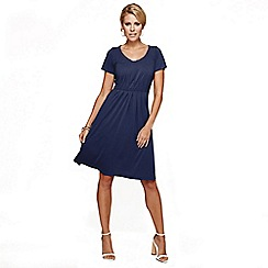 HotSquash - Navy CoolFresh Round Neck Short Sleeved Dress