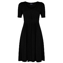HotSquash - Black CoolFresh round neck short sleeved dress
