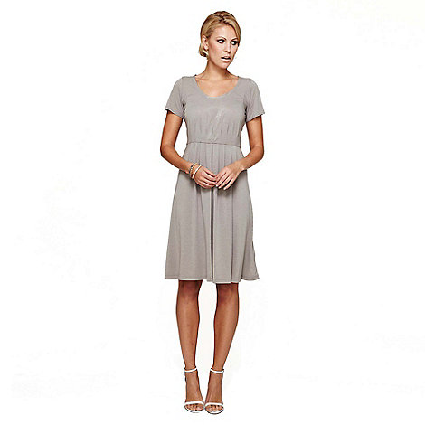 HotSquash - Grey CoolFresh Round Neck Short Sleeved Dress