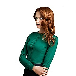 HotSquash - Emerald thermal pleated HotSquash top
