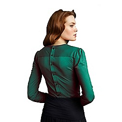 HotSquash - Elegant emerald button back HotSquash top