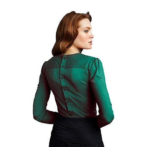 HotSquash - Elegant emerald button back HotSquash top