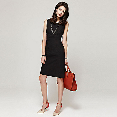 HotSquash - Black shift dress in clever fabric
