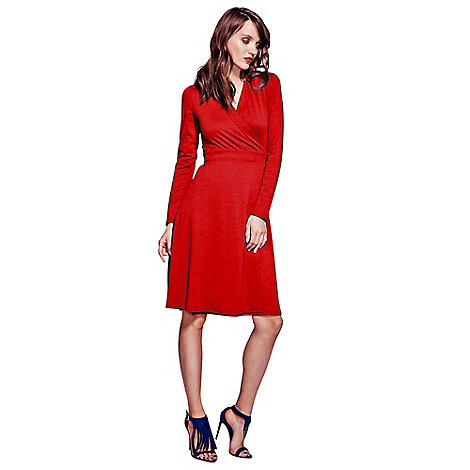 HotSquash - Red Wrap Dress in clever fabric