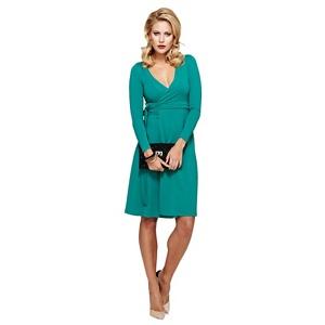 Plus Size Hotsquash Emerald Green Wrap Dress in Clever Fabric