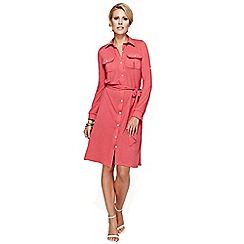 HotSquash - Coral Shirt Dress With Coolfresh