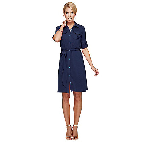 HotSquash - Navy Shirt Dress With Coolfresh