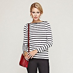 HotSquash - Grey/white striped boatneck with CoolFresh