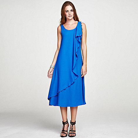 HotSquash - Cobalt ruffle dress in clever fabric