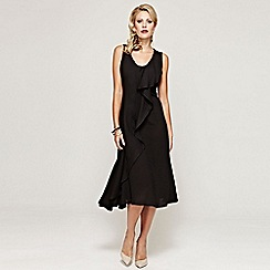 HotSquash - Black sleeveless ruffle dress in clever fabric