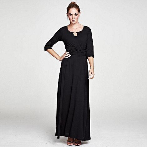HotSquash - Black maxidress with gold bar in clever fabric