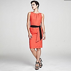HotSquash - Orange Sleeveless shift dress in clever fabric