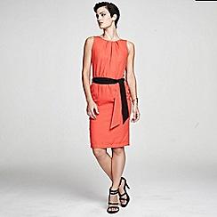 HotSquash - Orange Sleeveless shift dress in clever fabric