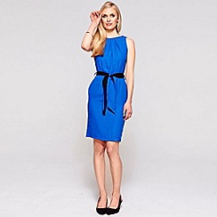 HotSquash - Cobalt Sleeveless shift dress in clever fabric