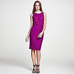 HotSquash - Berry Sleeveless shift dress in clever fabric