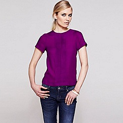 HotSquash - Berry Crepe pintuck tee shirt in clever fabric