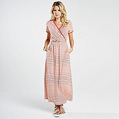 HotSquash - Coral Striped Maxi Dress in CoolFresh fabric